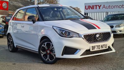 MG Motor UK MG3 1.5 VTi-TECH Exclusive 5dr [Navigation] Hatchback Petrol WHITE at Unity Coventry Coventry