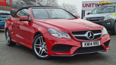 Mercedes-Benz E Class 3.0 E350 CDI BlueTEC AMG Sport 2dr 7G-Tronic Convertible Diesel RED at Unity Coventry Coventry